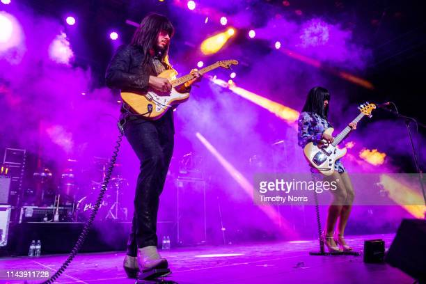 Mark Speer and Laura Lee of Khruangbin perform during 2019 Coachella Valley Music And Arts Festival on April 19 2019 in Indio California