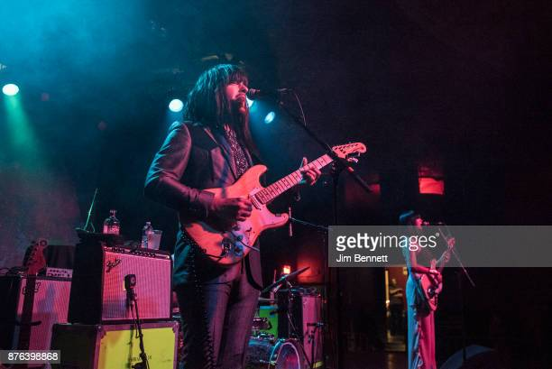 Mark Speer and Laura Lee of Khruangbin performs live on stage at The Showbox on November 18 2017 in Seattle Washington