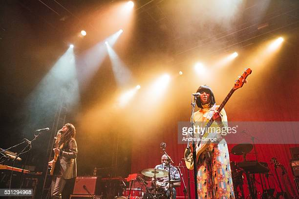 Mark Speer DJ and Laura Lee of Khruangbin performs on stage at O2 Academy Leeds on May 11 2016 in Leeds England