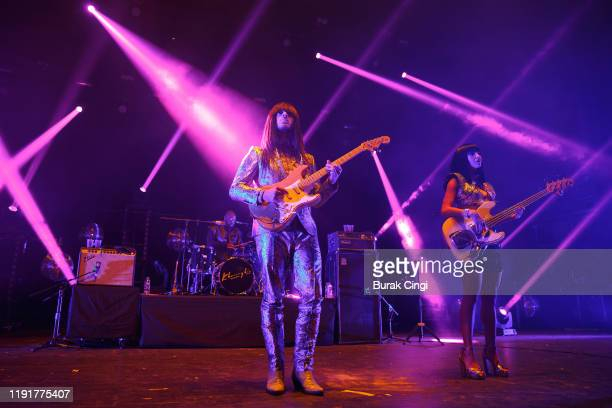 "Mark Speer, Donald Ray ""DJ"" Johnson Jr and Laura Lee of Khruangbin perform at O2 Academy Brixton on December 03, 2019 in London, England."