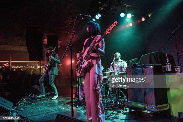 Mark Speer Laura Lee and Donald Johnson Jr of Khruangbin perform live on stage at The Showbox on November 18 2017 in Seattle Washington