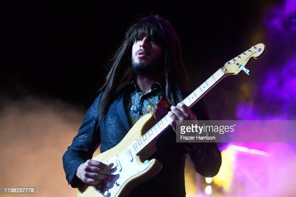 Mark Speer of Khruangbin performs at Gobi Tent during the 2019 Coachella Valley Music And Arts Festival on April 19, 2019 in Indio, California.