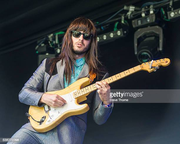 Mark Speer of Khruangbin performs at Umberslade Estate on June 5 2016 in TanworthinArden Warwickshire