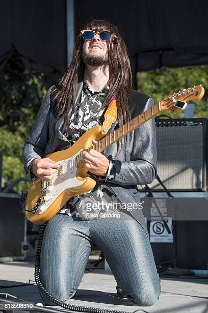 Mark Speer of Khruangbin performs during weekend two of Austin City Limits Music Festival at Zilker Park on October 8, 2016 in Austin, Texas.