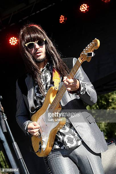 Mark Speer of Khruangbin performs in concert during the Austin City Limits Music Festival at Zilker Park on October 7 2016 in Austin Texas