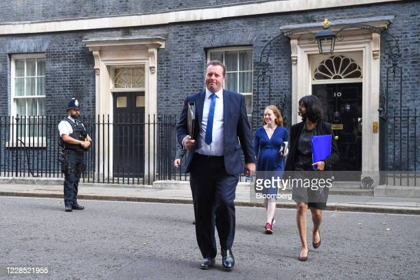 Mark Spencer UK parliamentary secretary center arrives for a meeting of cabinet ministers in London UK on Tuesday Sept 15 2020 UK Prime Minister...
