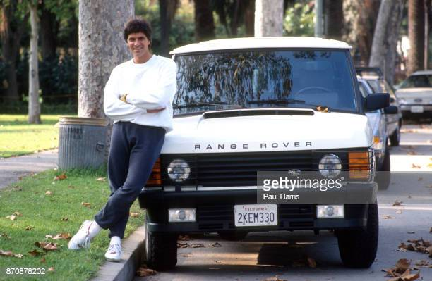 Mark Spitz outside his home after training with his Range Rover he is trying to get in shape for the 1992 Olympics Mark Spitz is trying to get in...
