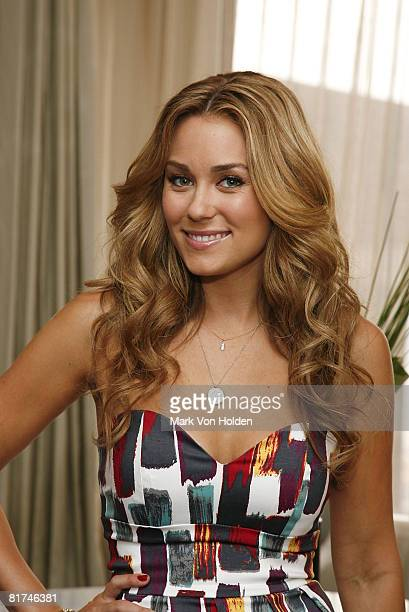 NEW YORK JUNE 16 Mark spokesperson Lauren Conrad poses wearing the Have a Heart necklace that will be sold to raise funds for the brand's new...