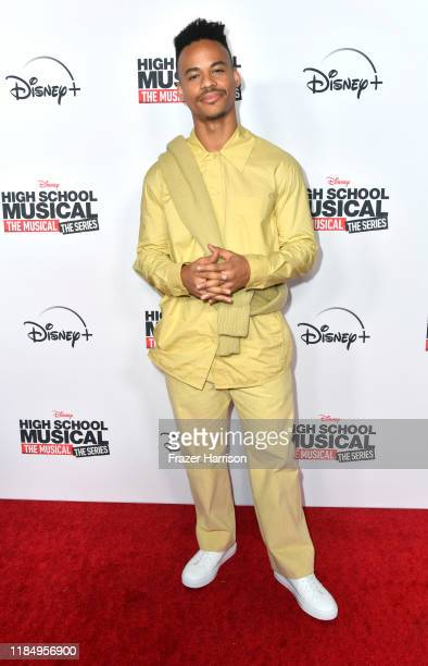 """Mark St. Cyr attends the Premiere Of Disney+'s """"High School Musical: The Musical: The Series"""" at Walt Disney Studio Lot on November 01, 2019 in..."""