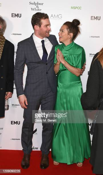 """Mark Stanley and Anna Friel attend the World Premiere of """"Sulphur And White"""" at The Curzon Mayfair on February 27, 2020 in London, England."""