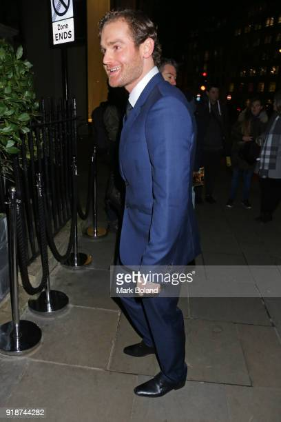 Mark Stanley arrives at the Dunhill GQ preBAFTA Filmmakers Dinner and Party Cohosted by Andrew Maag Dylan Jones on February 15 2018 in London England