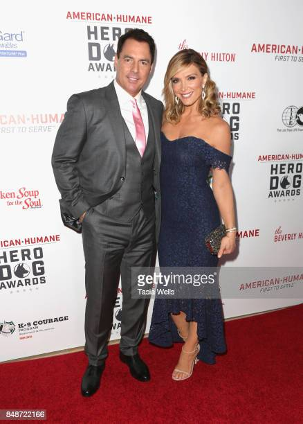 Mark Stein and Debbie Matenopoulos at the 7th Annual American Humane Association Hero Dog Awards at The Beverly Hilton Hotel on September 16 2017 in...