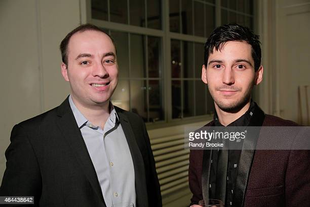 Mark Sternberg and Ellis Watamanuk attend FilmRise Celebrates new office in Industry City Brooklyn at FilmRise on February 25 2015 in Brooklyn New...