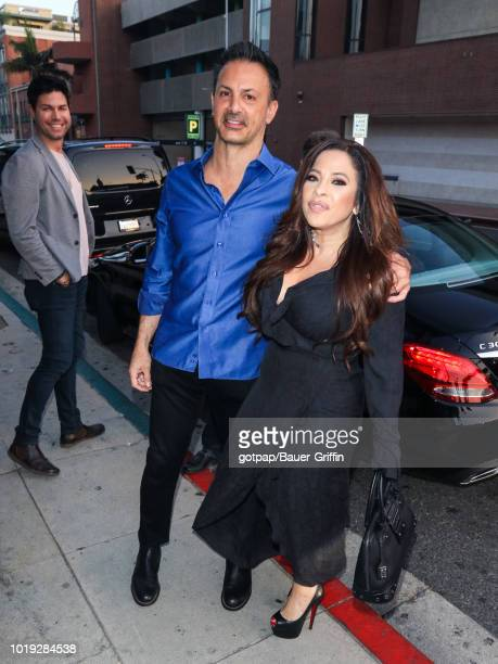 Mark Steven and Brooke Lewis are seen on August 18 2018 in Los Angeles California