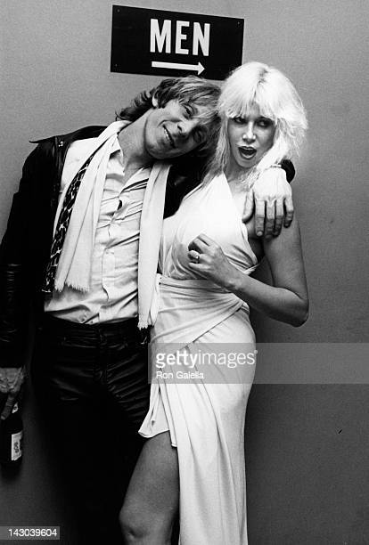 Mark Stevens and Annie Ample attend Screw Magazine Party on November 10 1980 at the Belmore Cafeteria in New York City