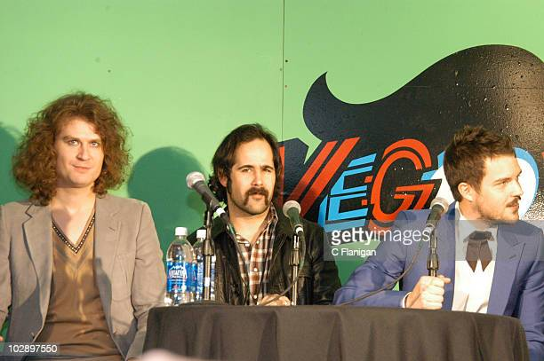 Mark Stoermer Ronnie Vannucci Jr and Brandon Flowers of The Killers