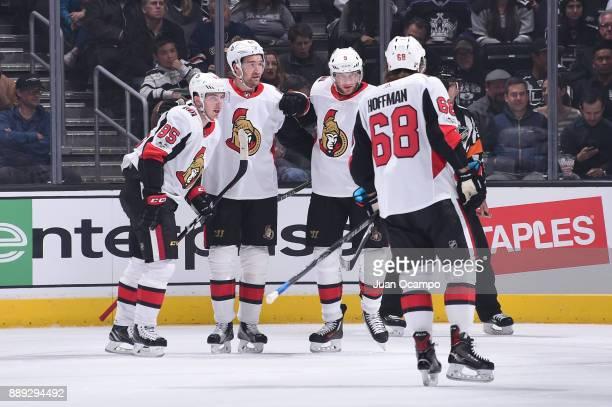 Mark Stone Matt Duchene Bobby Ryan and Mike Hoffman of the Ottawa Senators celebrate after scoring a goal against the Los Angeles Kings at STAPLES...