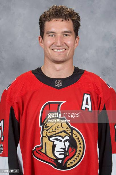 Mark Stone of the Ottawa Senators poses for his official headshot for the 20172018 season on September 14 2017 at Canadian Tire Centre in Ottawa...