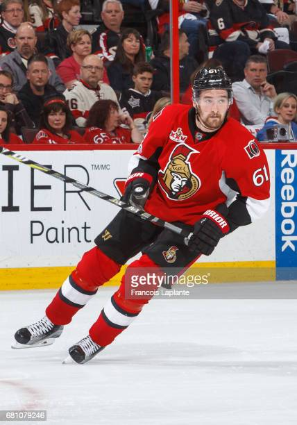 Mark Stone of the Ottawa Senators skates against the New York Rangers in Game Five of the Eastern Conference Second Round during the 2017 NHL Stanley...