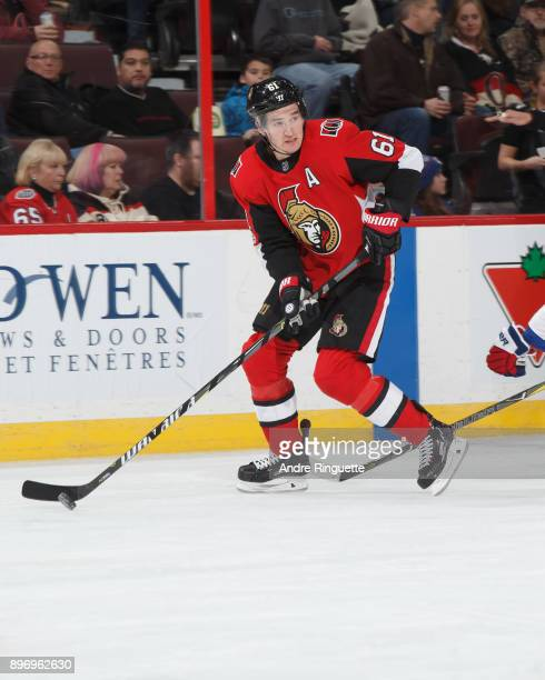 Mark Stone of the Ottawa Senators skates against the New York Rangers at Canadian Tire Centre on December 13 2017 in Ottawa Ontario Canada