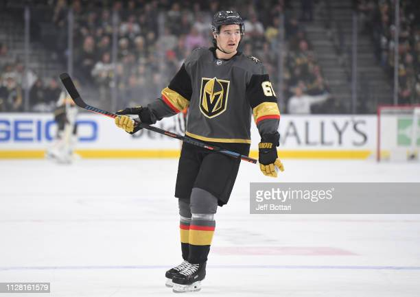 Mark Stone of the Vegas Golden Knights skates during the first period against the Florida Panthers at TMobile Arena on February 28 2019 in Las Vegas...