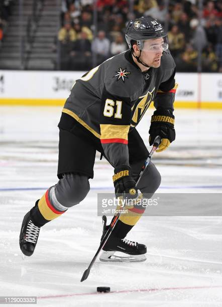 Mark Stone of the Vegas Golden Knights skates during the third period against the Calgary Flames at TMobile Arena on March 6 2019 in Las Vegas Nevada