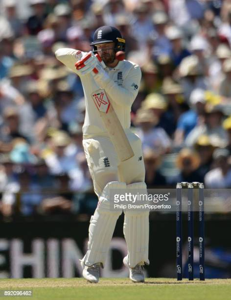 Mark Stoneman of England is given out after the ball was ruled to have touched his glove during the first day of the third Ashes cricket test match...
