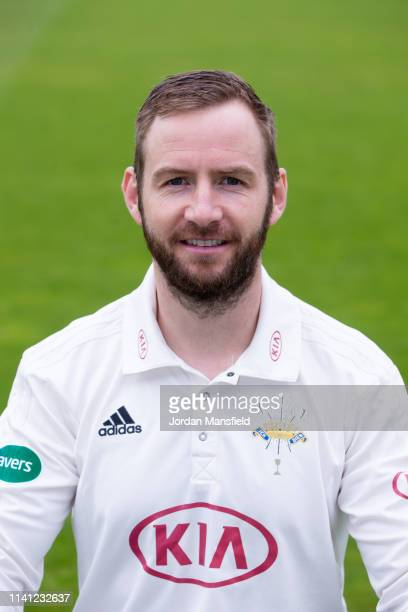 Mark Stoneman of Surrey poses for a photo during a training session at The Kia Oval on April 08, 2019 in London, England.