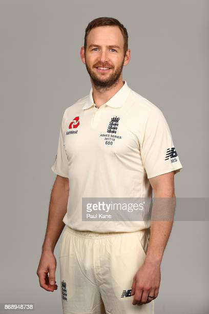Mark Stoneman poses during the 2017/18 England Ashes Squad headshots session at the Fraser Suites on November 1 2017 in Perth Australia