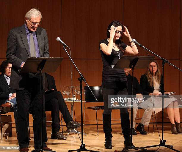 """Mark Strand & Mary Louise Parker performing in """"The Plays and Essays of Wallace Shawn"""" presented by CUNY Graduate Center for the Humanities,..."""