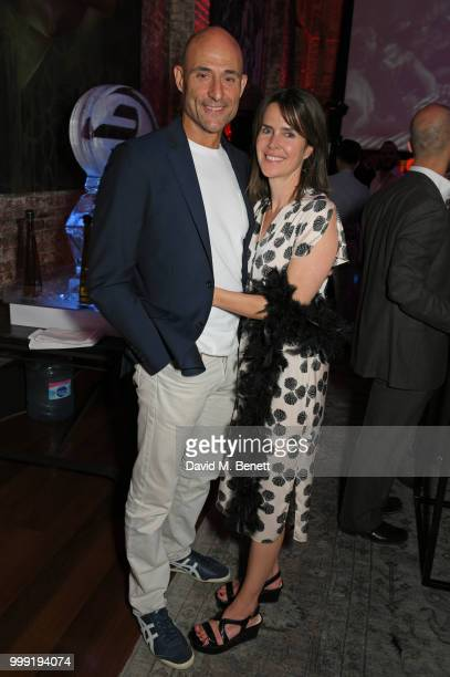 Mark Strong and Liza Marshall attend the Formula E 1920's cocktail party hosted by Liv Tyler on the eve of the final race of the 2017/18 ABB FIA...
