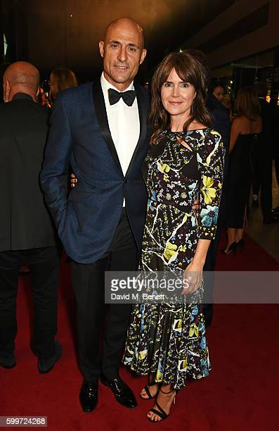 Mark Strong and Liza Marshall attend the GQ Men Of The Year Awards 2016 at the Tate Modern on September 6 2016 in London England