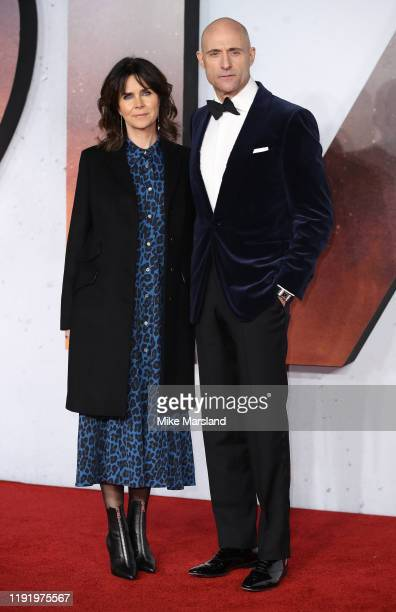 Mark Strong and Liza Marshall attends the 1917 World Premiere and Royal Performance at Odeon Luxe Leicester Square on December 04 2019 in London...