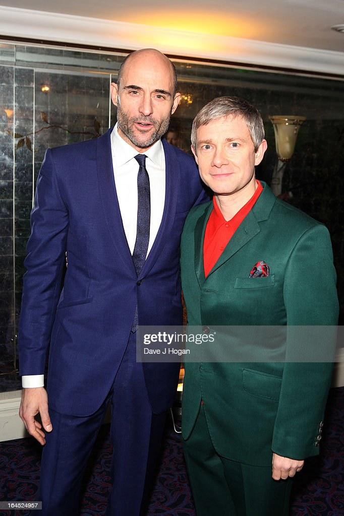 Mark Strong and Martin Freeman attend the Jameson Empire Awards 2013 at Grosvenor House Hotel on March 24, 2013 in London, England.
