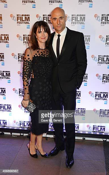 Mark Strong and wife Liza Marshall attend an after party following the Opening Night Gala Screening of 'The Imitation Game' during the 58th London...