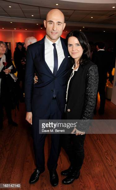 Mark Strong and wife Liza Marshall attend the UK Premiere of 'Welcome To The Punch' at the Vue West End on March 5 2013 in London England