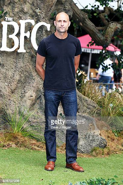 Mark Strong arrives for the UK film premiere of 'The BFG' on July 17 2016 in London England