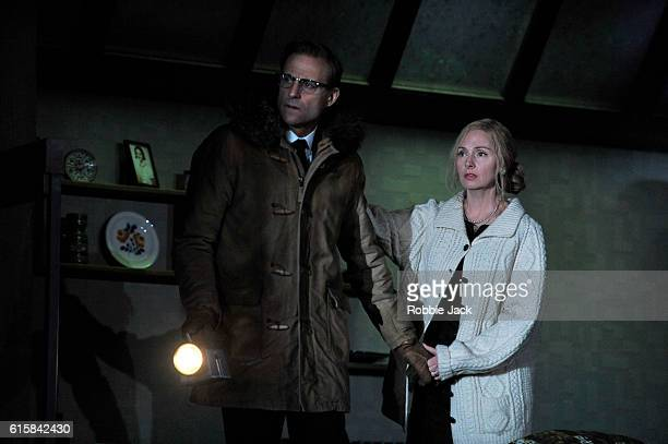 Mark Strong as Donald Dodd and Hope Davis as Ingrid Dodd in David Hare's The Red Barn directed by Robert Icke at The National Theatre on October 14...