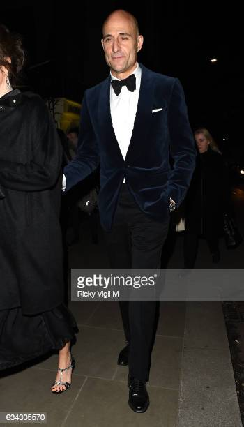 Mark Strong attends BAFTAs 2017 Dunhill Celebrating Gentlemen in Film on February 8 2017 in London England