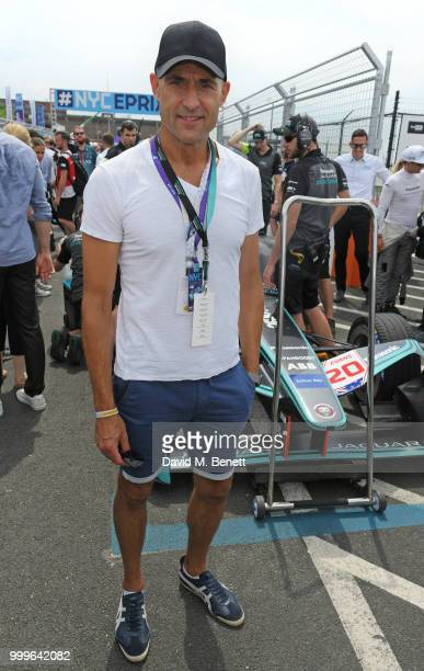 Mark Strong attends the Formula E 2018 Qatar Airways New York City EPrix the double header season finale of the 2017/18 ABB FIA Formula E...