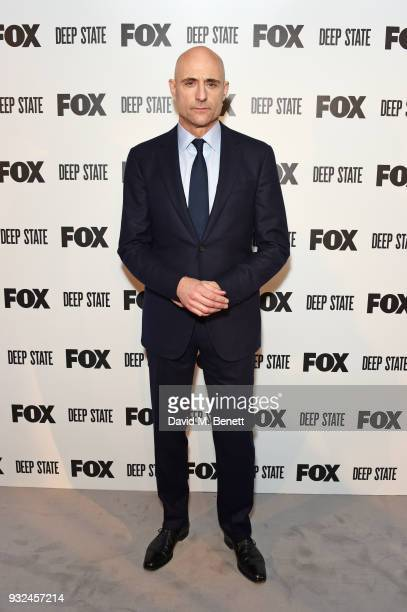 Mark Strong attends the Global Premiere of Deep State the new espionage thriller from FOX at the Curzon Soho on March 14 2018 in London England