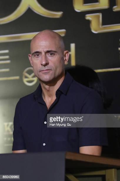 Mark Strong attends the 'Kingsman The Golden Circle' press conference at Yongsan CGV on September 21 2017 in Seoul South Korea