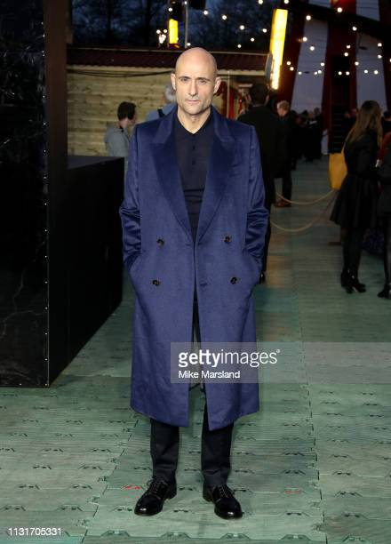 Mark Strong attends the launch of the DC 'Shazam' Fun Fair photocall at Bernie Spain Gardens South Bank on March 20, 2019 in London, England.