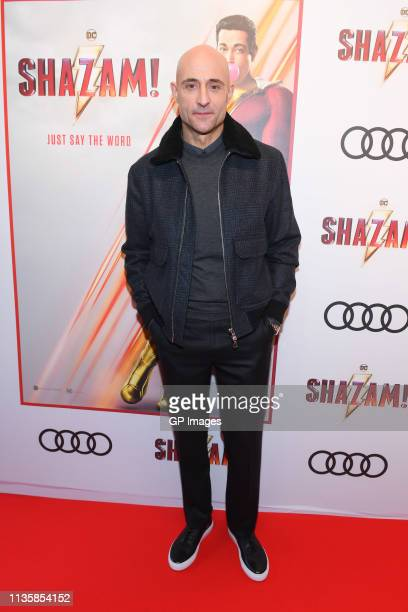 Mark Strong attends the unveiling of the Shazam World Exclusive Fan Experience on March 14 2019 in Toronto Canada