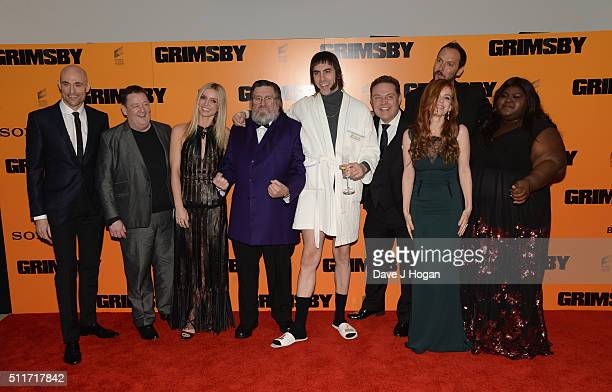 Mark Strong Johnny Vegas Annabelle Wallis Ricky Tomlinson Sacha Baron Cohen John Thompson Isla Fisher Louis Leterrier and Gabourey Sidibe attend the...
