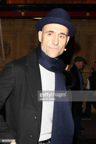 Mark Strong leaving the Royal Albert Hall after watching OVO Cirque du Soleil on January 10 2018 in London England