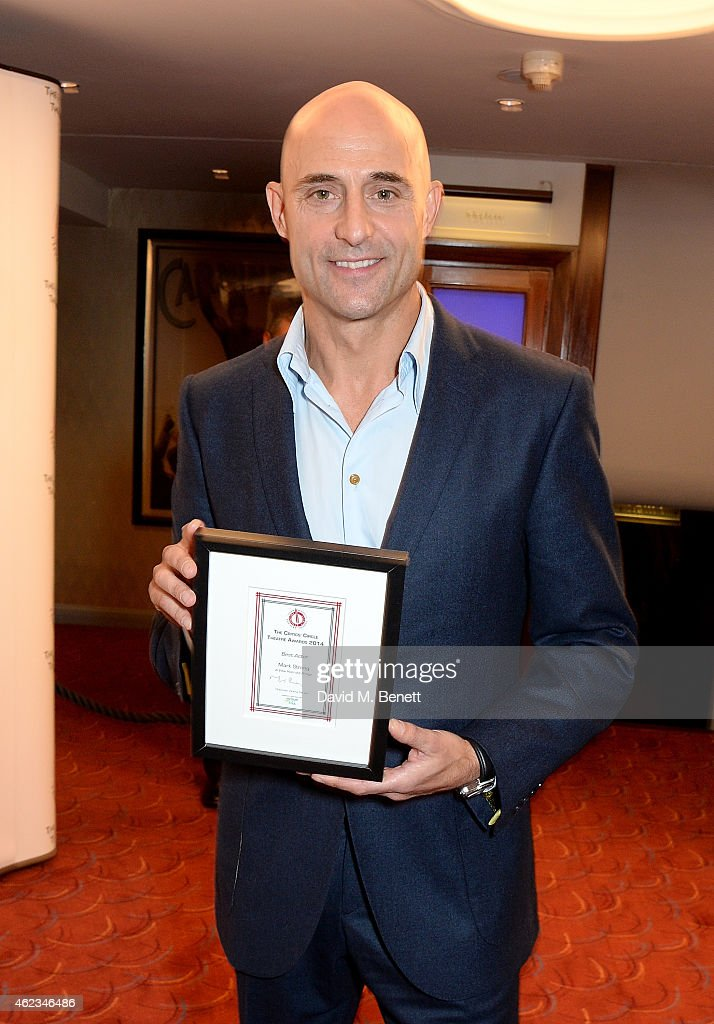 Mark Strong Winner Of The Best Actor Award For A View From Bridge