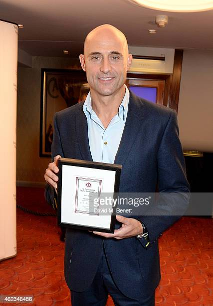 Mark Strong winner of the Best Actor Award for 'A View From The Bridge' at the 2015 Critics' Circle Theatre Awards at The Prince of Wales Theatre on...