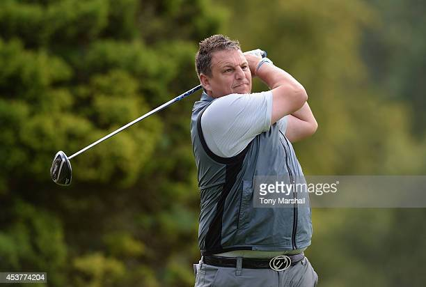 Mark Sturgess of Bourn Golf and Leisure plays his first shot on the 1st tee during the Golfplan Insurance PGA ProCaptain Challenge East Regional...