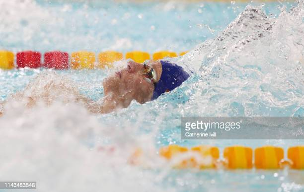 Mark Szaranek competes in the Men's 400 IM heats during Day Three of the British Swimming Championships 2019 at Tollcross International Swimming...